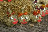 Decorative Pumpkins with Smiling Faces