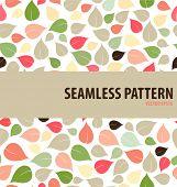 Seamless leaf pattern. Vector illustration