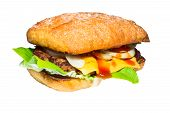 Homemade Burger Isolated On White