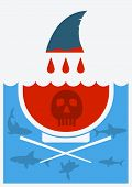 Stop Shark Finning Soup.vector Illustration