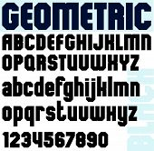 Black bold font and numbers, classic geometric poster letters.