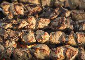Tasty shish kebab.