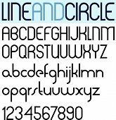 Poster thin circle black font and numbers.