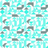stock photo of parallelogram  - Pastel seamless pattern with geometric figures - JPG