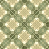 Geometric Floral Background, Ornamental Abstract Seamless Pattern.