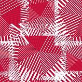 Abstract Red Lines Seamless Pattern.Psychedelic backdrop With Stripes And Geometric Figures
