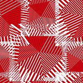 Abstract red lines seamless pattern.