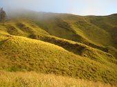 Hilly Grassland Around Mount Rinjani