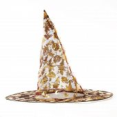 Transparent black witch hat for Halloween