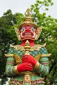 Figure Guardian Demon , Terrify , In Thai Temple