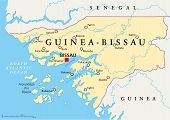 Guinea-Bissau Political Map