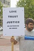 Love, Trust, Justice Sign