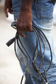 African Man With Defective Computer Cables