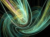 Abstract background - colorful lines on black