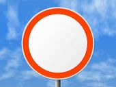 Round sign (clear), clipping path for sign