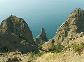 Canyon and sea in Crimea