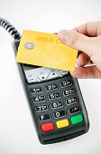 Contactless Gold Payment Card With Nfc Chip Using With Terminal Device