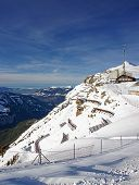 Panoramic View From Mannlichen Skiing Resort To The Lauterbrunnen Valley
