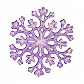 Snowflake, isolated on white background