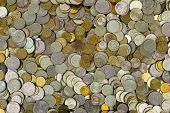 Heap of coins, abstract money background