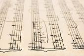 Retro handwritten sheet music, abstract art background