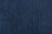 Macro of denim, abstract textile jeans background