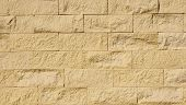 Yellow Sandstone Wall Closeup