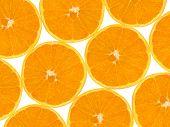 Orange fruit slices, abstract food background