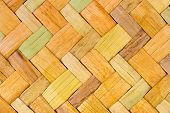 Wicker wood background, abstract geometric pattern
