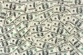 Dollars background abstract business money background