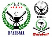 Baseball badges or emblems