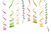 Multicolored streamer isolated on white background