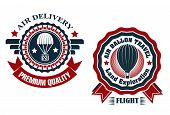 Air Delivery and Hot Air Balloon badges
