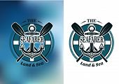 Seafarer badges with crossed oars