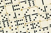 Domino background, abstract games texture