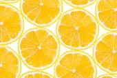 Lemon fruit slices - abstract food background