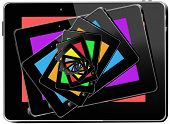 Kaleidoscope From Multi-colored Tablets