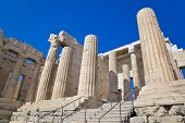 Entrance to Acropolis at Athens, Greece - travel background