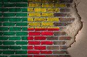 Dark Brick Wall With Plaster - Benin