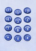 Macro of phone keypad - business background