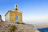 Old church in mountains, Biokovo, Croatia - religion background