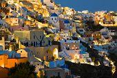 Santorini night (Oia) - Greece vacation background