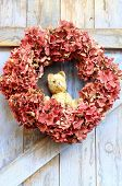 Teddy Bear autumn wreath
