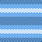 Blue and white pixelated striped geometric seamless pattern, vector