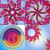 Set of Abstract Rainbow concept backgrounds. Vector