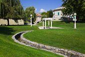 Park in Split, Croatia - travel background