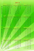green calendar 2012
