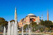Hagia Sophia in Istanbul Turkey - architecture religion background