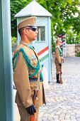 Budapest, Hungary, Ceremonial guard at the Presidential Palace
