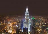 picture of klcc  - Twin towers at Kuala Lumpur  - JPG